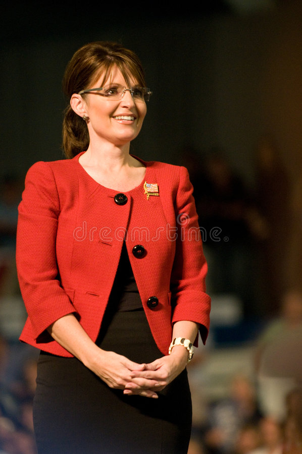 Governor Sarah Palin Vertical Smiling royalty free stock images