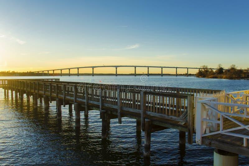 Governor Thomas Johnson Bridge royalty free stock photography