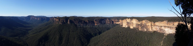 Govetts Schlucht von Evans-Ausblick, blaue Berge, Australien stockfotografie