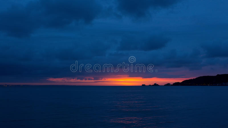 Gower sunrise over Mumbles stock images