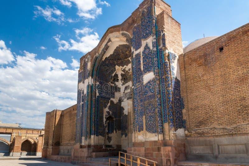 Goy azul Machid da mesquita em Tabriz, Irã imagem de stock royalty free