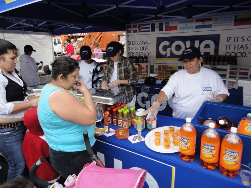 Goya Nahrungsmittelstandplatz stockbild