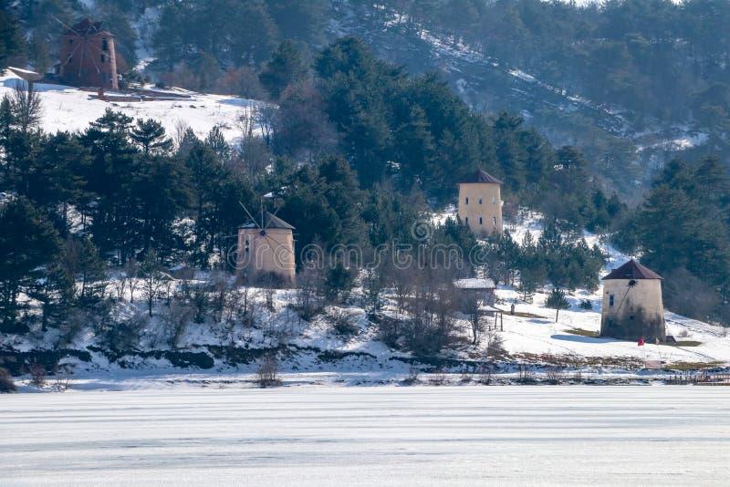 Goynuk / Bolu / Turkey, winter season landscape. Travel concept photo.  royalty free stock image