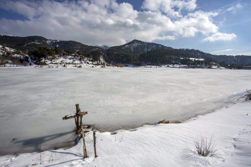 Goynuk / Bolu / Turkey, winter season landscape. Travel concept photo.  royalty free stock photo