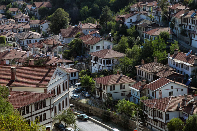 Goynuk Homes. Ottoman architecture Goynuk Homes in Bolu, Turkey royalty free stock photography