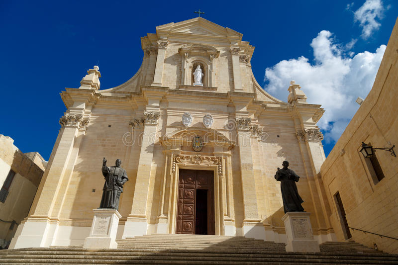 Gozo Cathedral View royalty free stock image