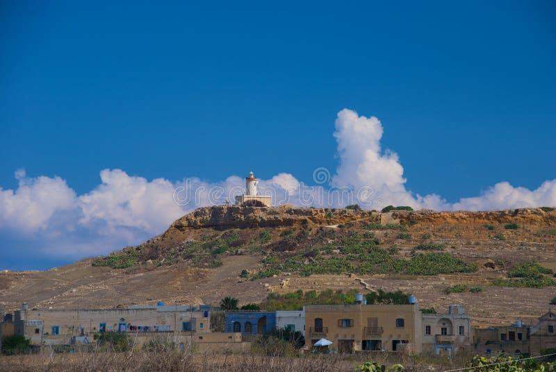 Gozo fyr fotografering för bildbyråer