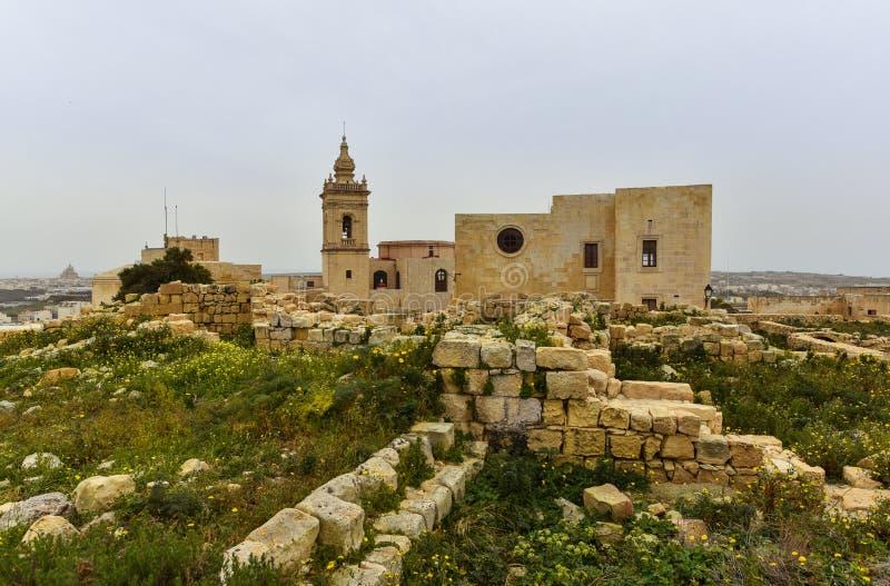 Gozo-Insel, Malta, Zitadelle stockfotografie