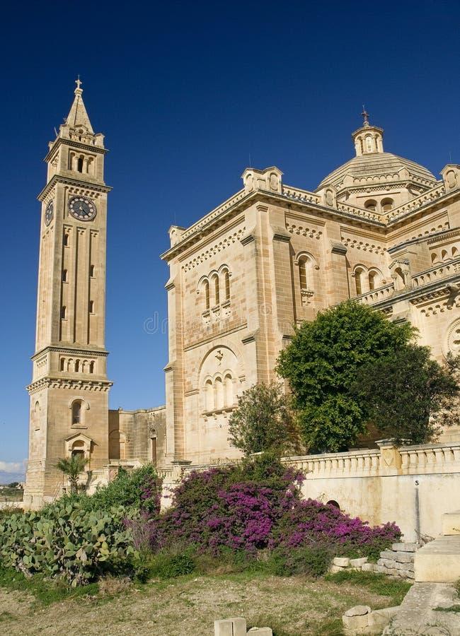 Gozo Malta del gharb di pinu della basilica l'AT fotografie stock libere da diritti