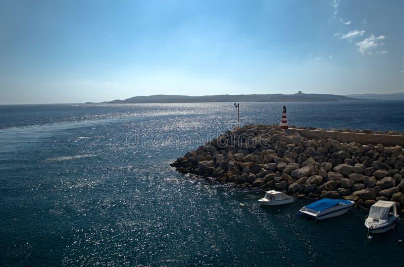 Gozo port morski zdjęcie royalty free