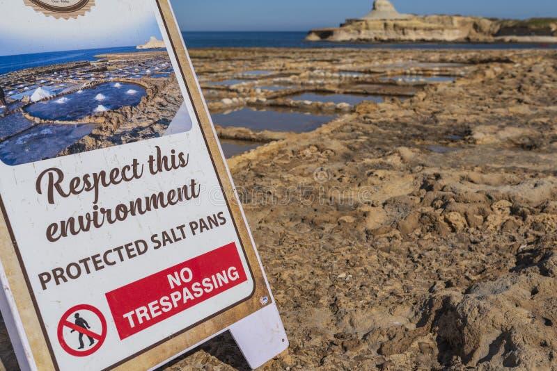 Gozo soli niecki zdjęcie royalty free