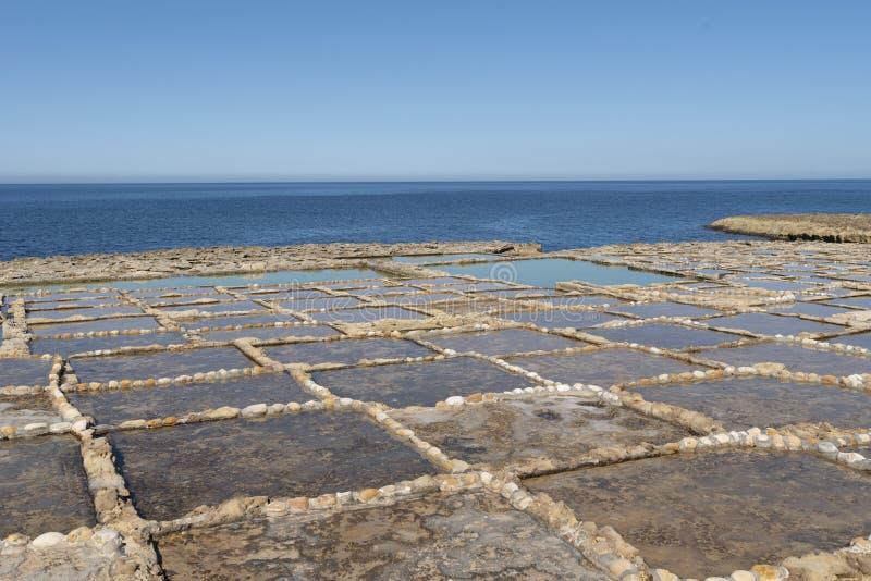 Gozo soli niecki zdjęcie stock
