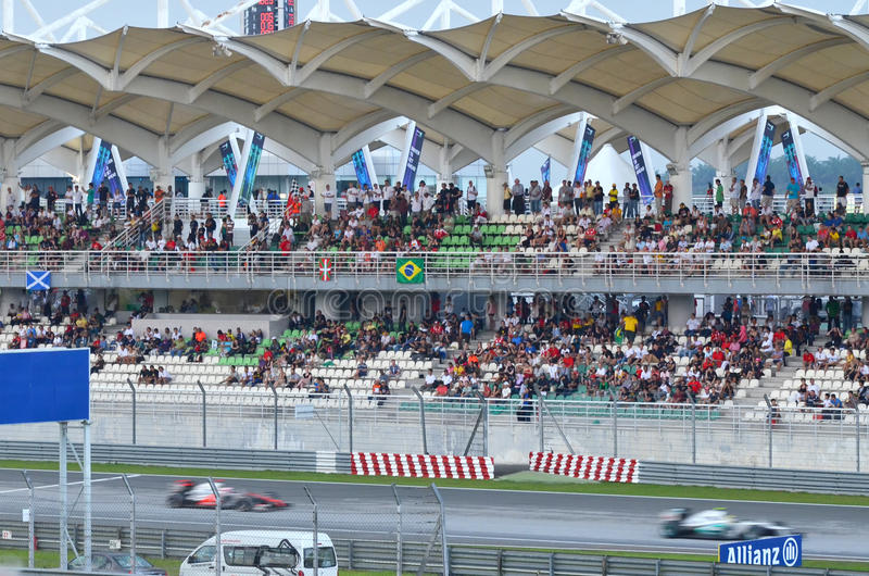 GP 2012 da fórmula 1 em Kuala Lumpur, Malaysia imagem de stock royalty free