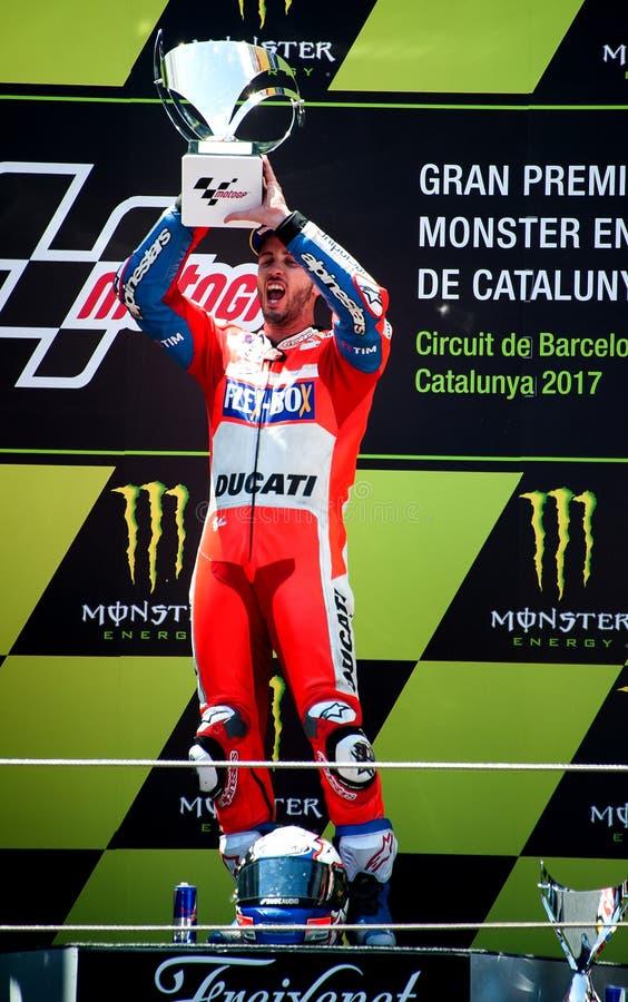 GP CATALUNYA MOTOGP Andrea Dovizioso Ducati-TEAM lizenzfreie stockfotografie