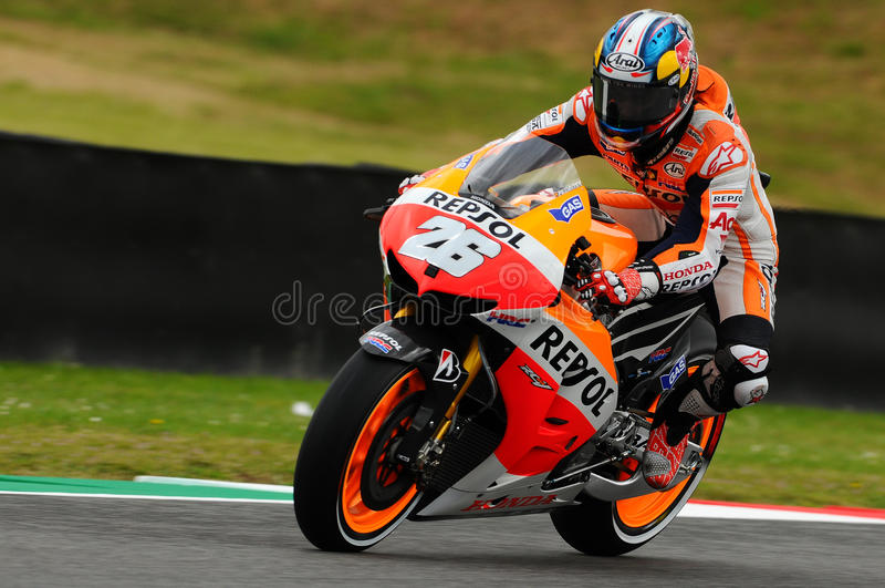 GP de Dani Pedrosa HONDA MotoGP del circuito 2013 de Italia Mugello foto de archivo