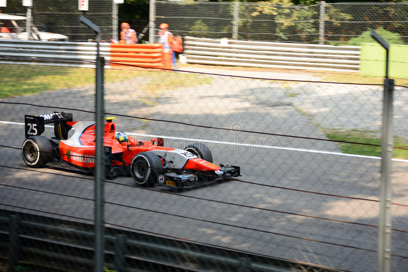 GP2 serii samochód jadący Jimmy Eriksson obrazy royalty free