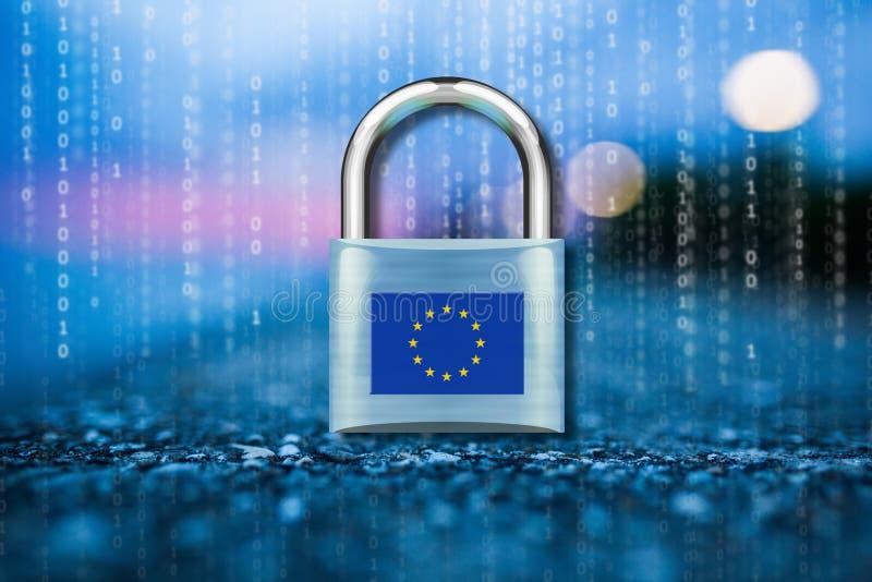 GPDR är den europeiska UnionÂ'sens den nya lagen för dataavskildhet stock illustrationer