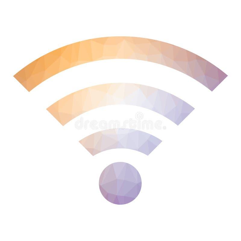 GPRS-Embleem radiogolfpictogram Draadloos die Netwerksymbool op witte achtergrond wordt geïsoleerd Mobiel concept stock illustratie