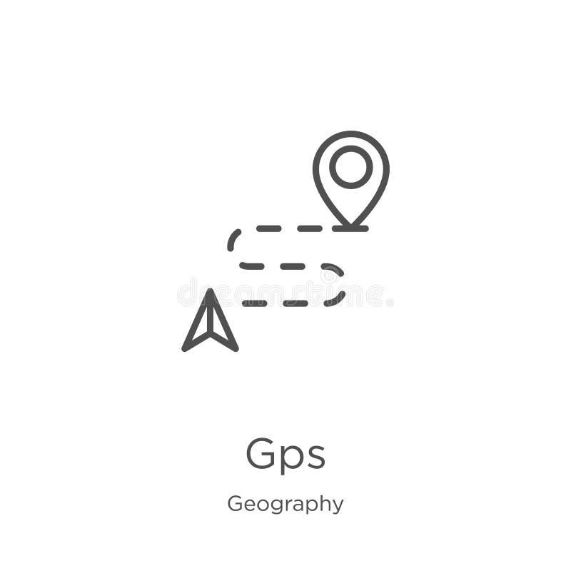 gps从地理汇集的象传染媒介 稀薄的线gps概述象传染媒介例证 概述,稀薄的线网站的gps象 皇族释放例证