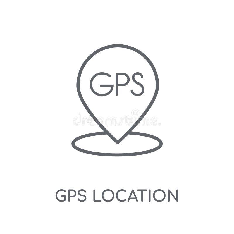 GPS地点线性象 现代概述GPS地点商标conce 库存例证