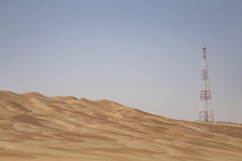 GPS基地在沙漠 免版税库存照片