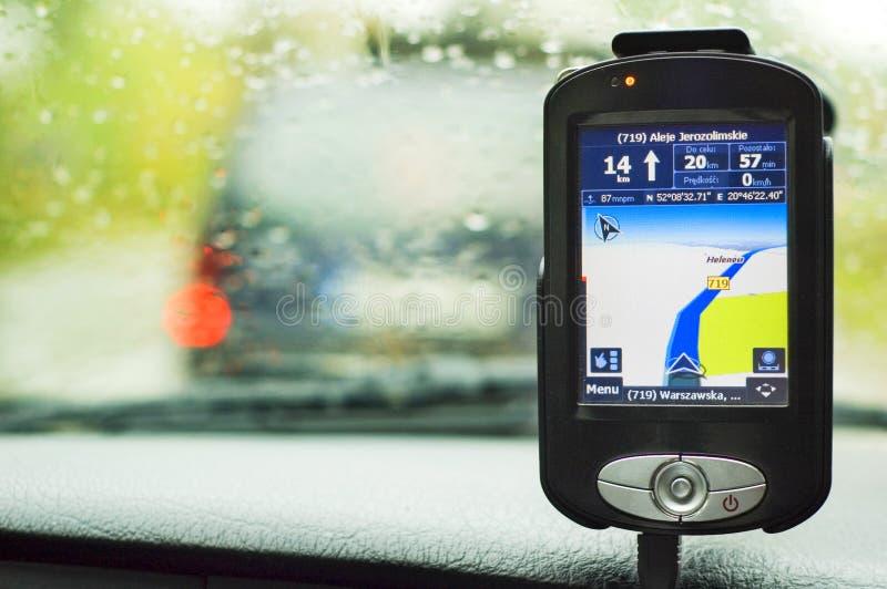 GPS定位收货人 库存图片