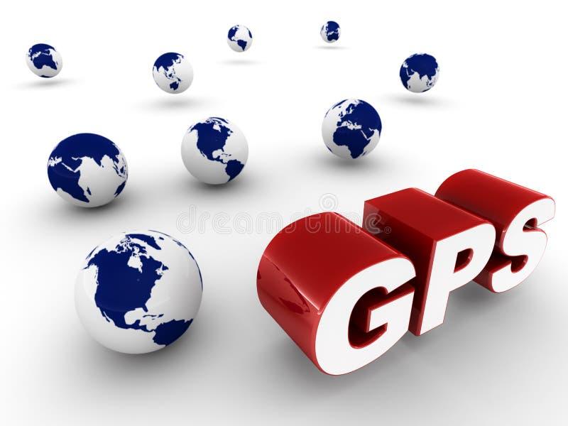 GPS技术 皇族释放例证
