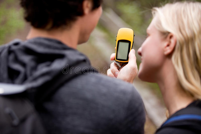 Download GPS stock photo. Image of forest, girl, discovery, sport - 16260830