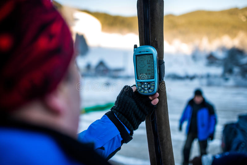 GPS photo stock