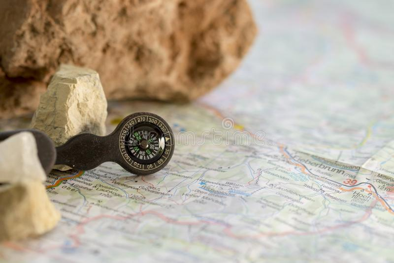 GPS ai vecchi tempi fotografia stock