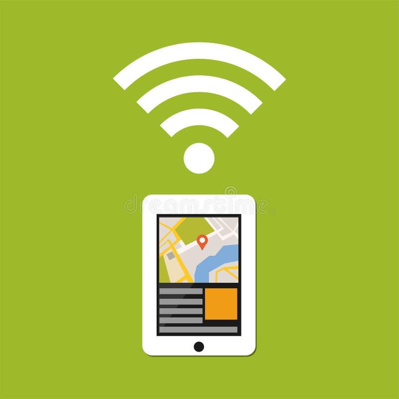 GPS-Anwendungstechnologie Bewegliche Technologie vektor abbildung