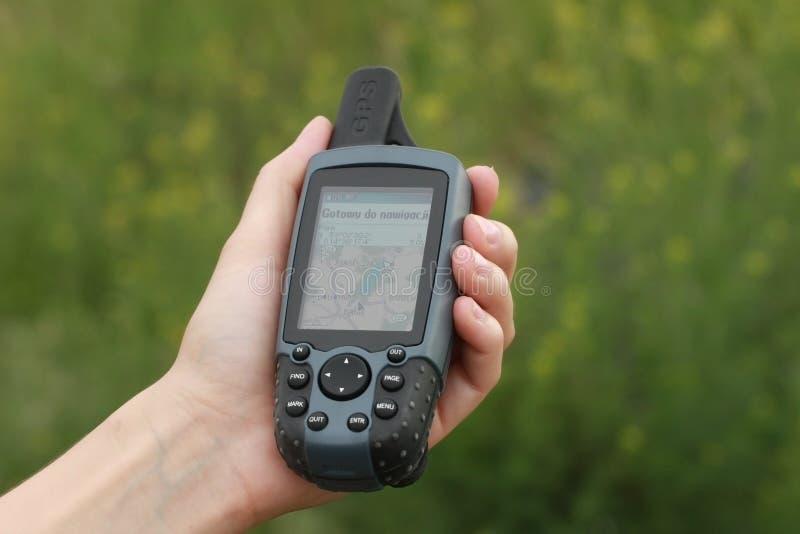 GPS avec la carte photo libre de droits