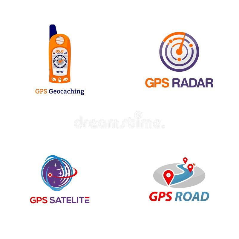 GPS creativo Logo Vector Art Logo stock de ilustración