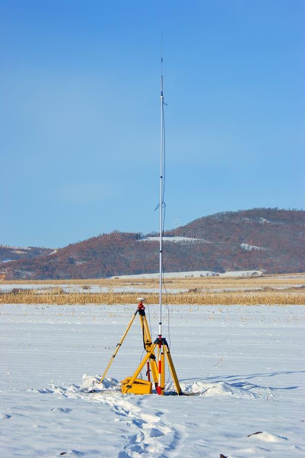 GPS de Post van het metingenCentrum stock foto