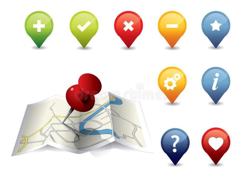 GPS de reeks van het Pictogram