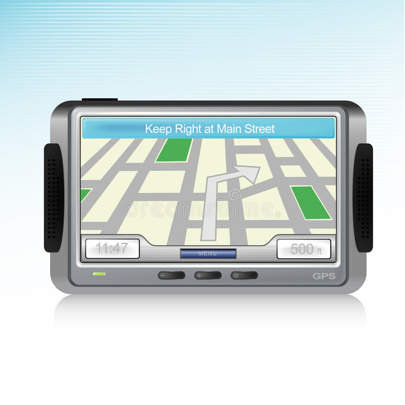 Download GPS Device Icon stock vector. Image of navigation, driving - 4866031