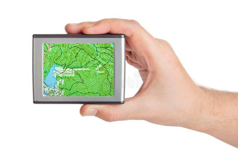 GPS a disposizione immagine stock libera da diritti