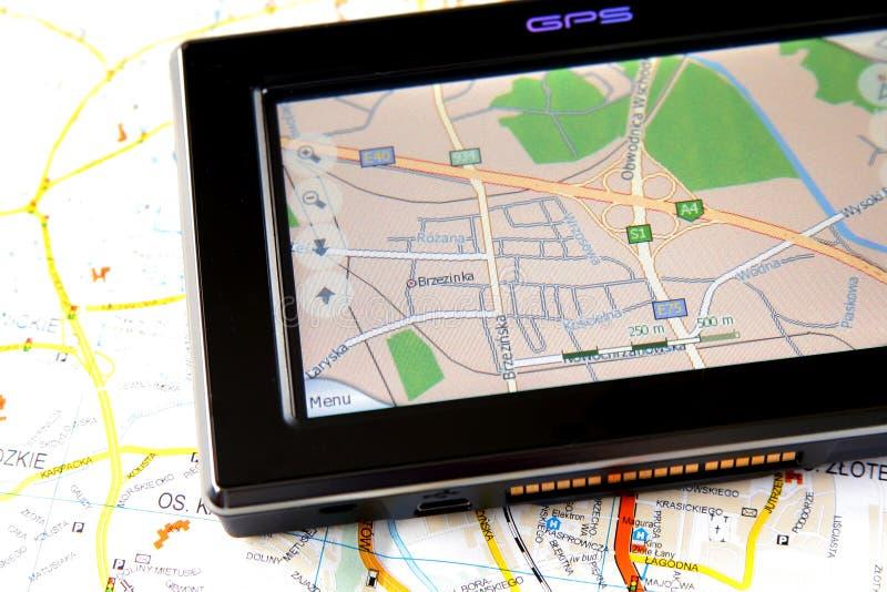 GPS e programma fotografie stock