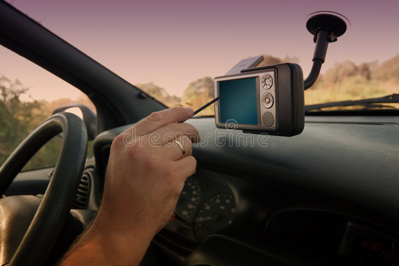 GPS - Encontrando a maneira direita fotos de stock royalty free
