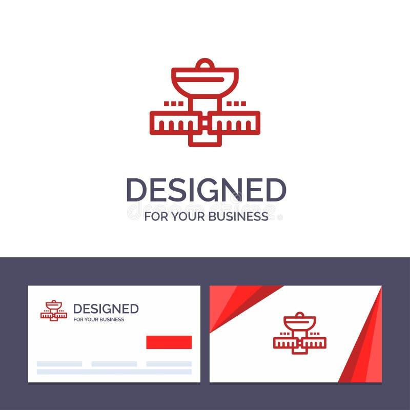 Gps för idérik mall för affärskort och logo, utrymme, satellit, satellit, illustration för utrymmevektor royaltyfri illustrationer