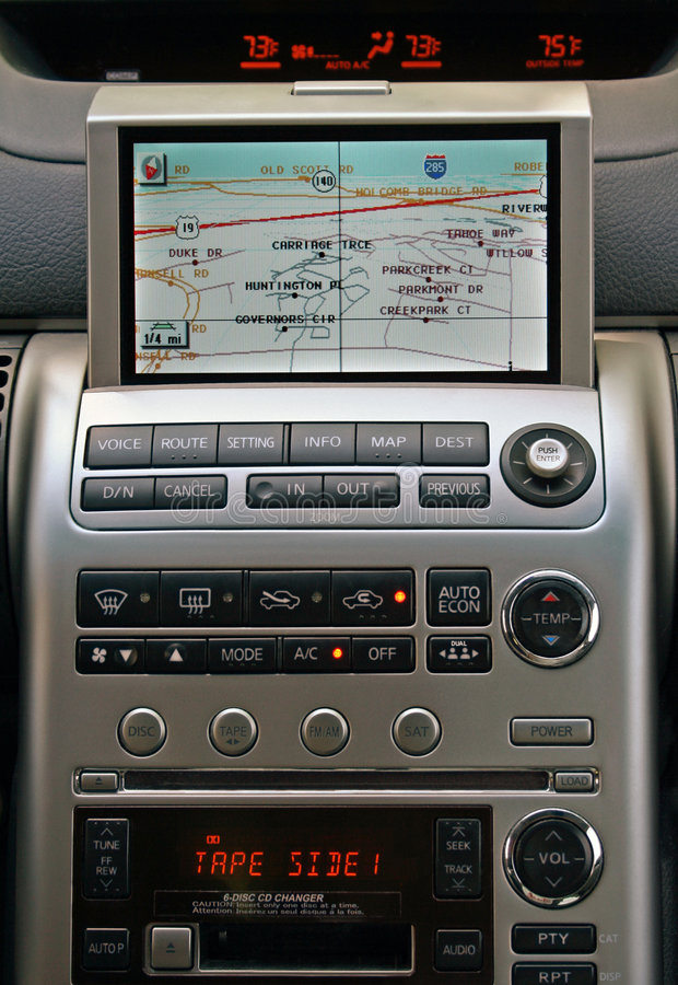 Gps-FahrzeugNavigationsanlage lizenzfreies stockbild