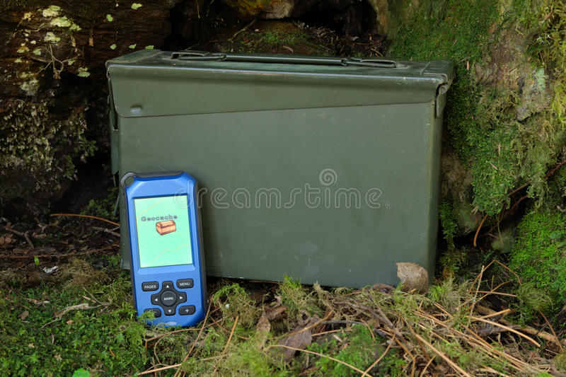 Download GPS and geocache stock photo. Image of hidden, global - 14254518