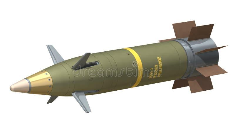 GPS a guidé des munitions d'artillerie illustration de vecteur