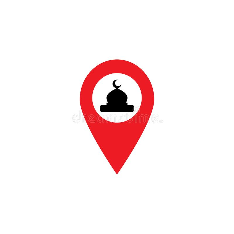 GPS icon check in of Mosque for prayer vector illustration vector illustration