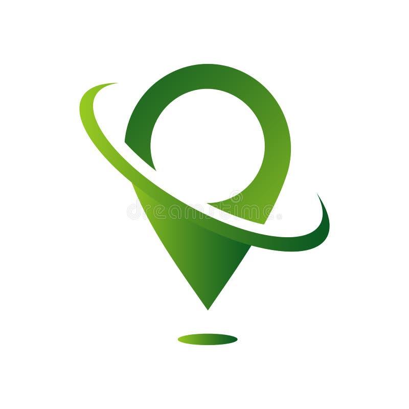 GPS icon vector logo design. Map pointer icon. Pin location symbol vector illustration