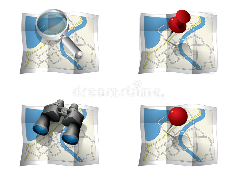 Download GPS Icons stock image. Image of icon, navigational, magnifying - 20353791