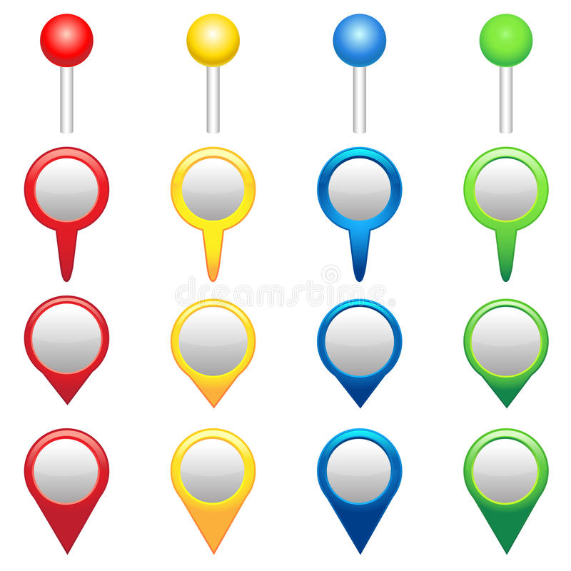 Download GPS Icons stock vector. Image of marker, position, abstract - 25615172