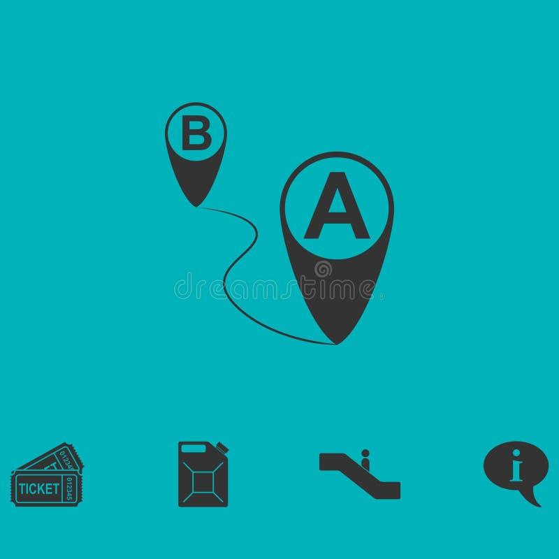 GPS ikony mieszkanie royalty ilustracja