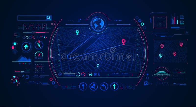 Gps interface royalty-vrije illustratie