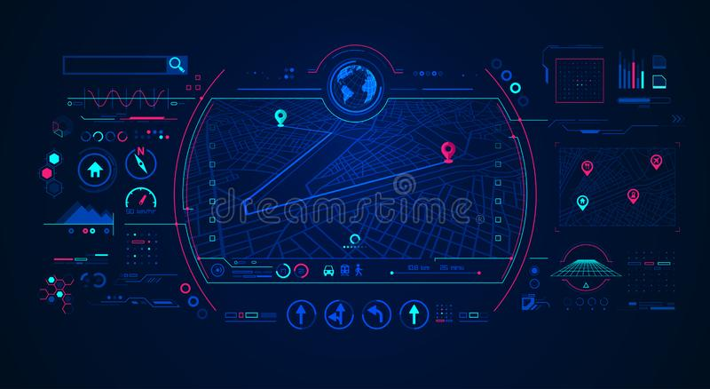 Gps interface royalty free illustration